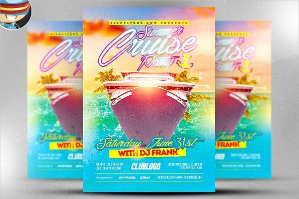 Cruise Flyer Template Free Unique 18 Cruise Flyers Psd Ai Word Eps Vector