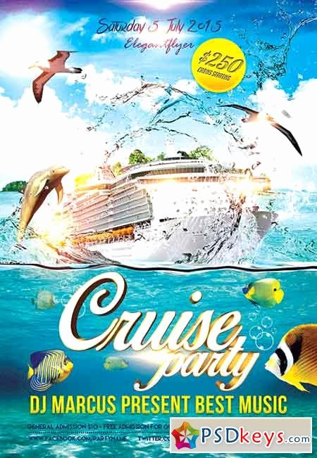Cruise Flyer Template Free Unique Cruise Party Flyer Psd Template Fb Cover Free Download Shop Vector Stock Image Via