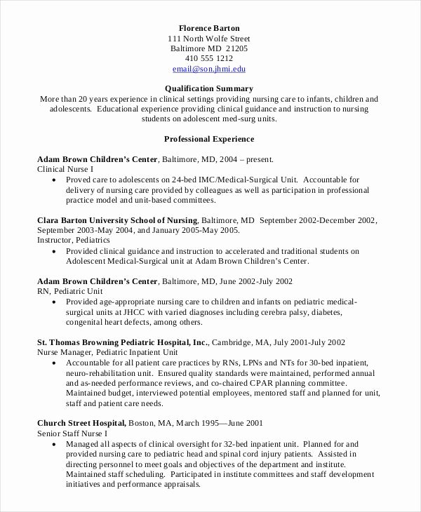 Current Nursing Student Resume Elegant Nursing Student Resume Clinical Experience