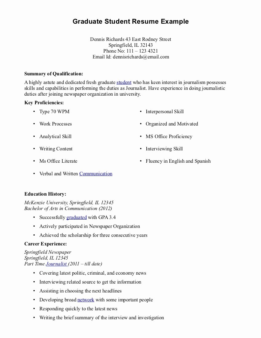 Current Nursing Student Resume Fresh Best S Of Cv Examples for Students Student