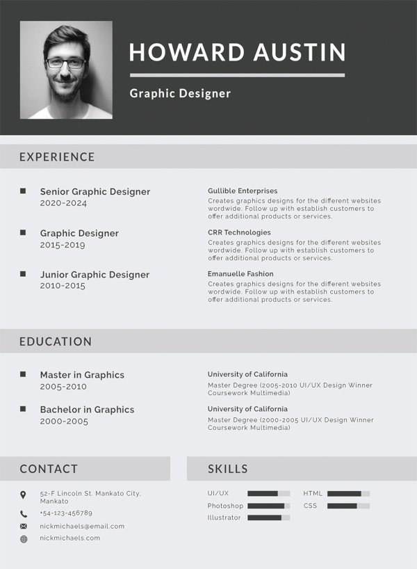 Curriculum Vitae Examples Pdf Beautiful 47 Best Resume formats Pdf Doc