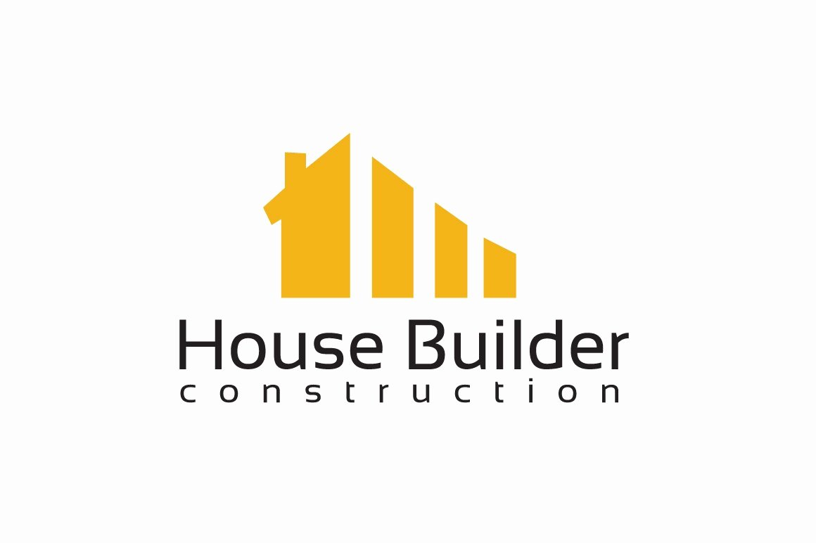 Custom Home Builder Logos Elegant House Builder Logo Template Logo Templates Creative Market