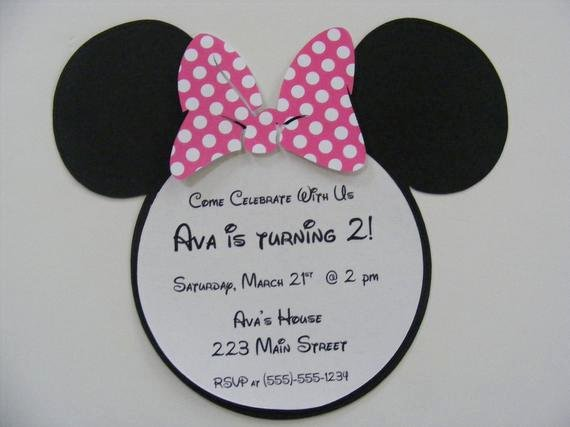 Custom Minnie Mouse Birthday Invitations Best Of Minnie Mouse Invitations Custom Listing for Rrstan