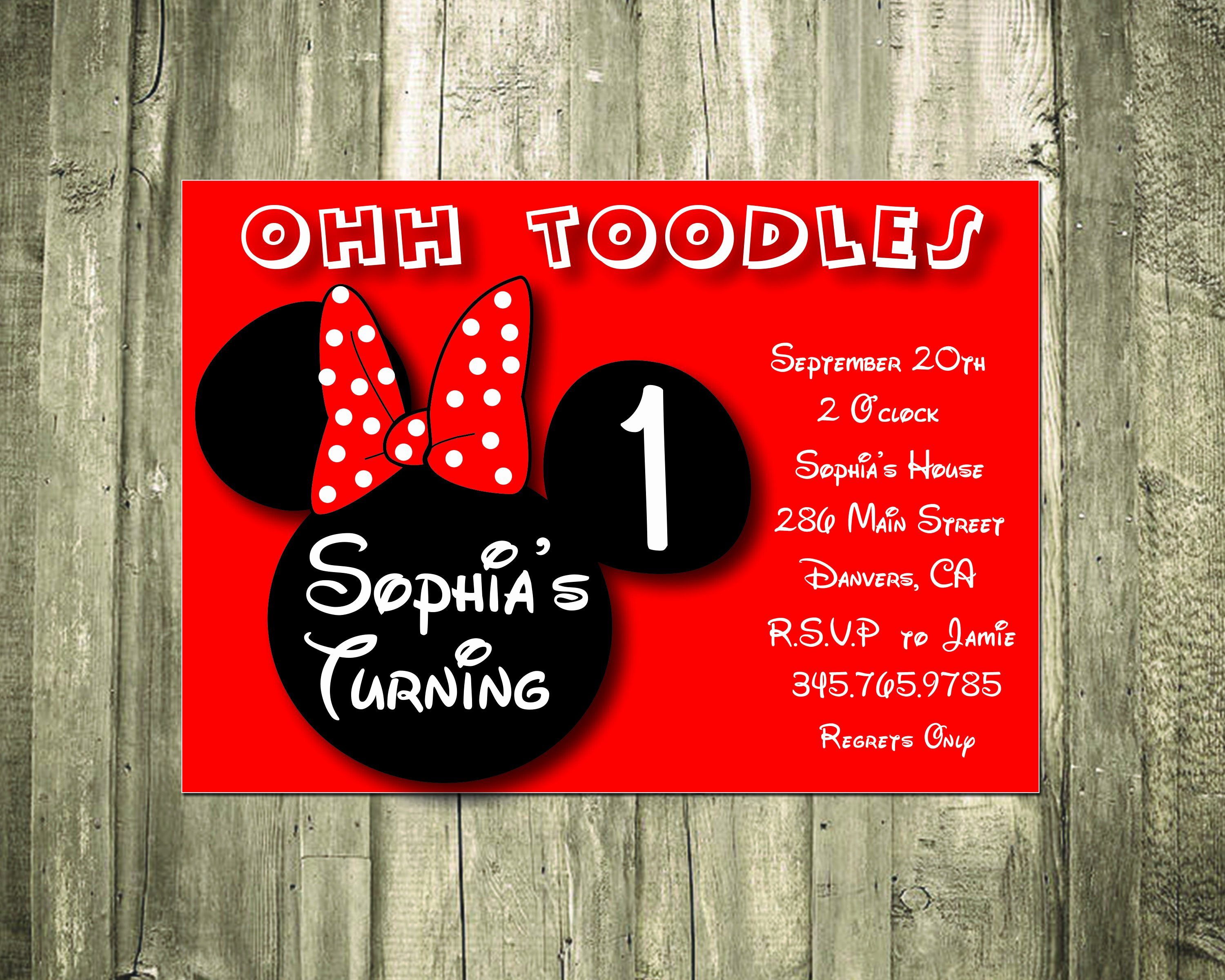 Custom Minnie Mouse Birthday Invitations Best Of Minnie Mouse Personalized Birthday Invitation