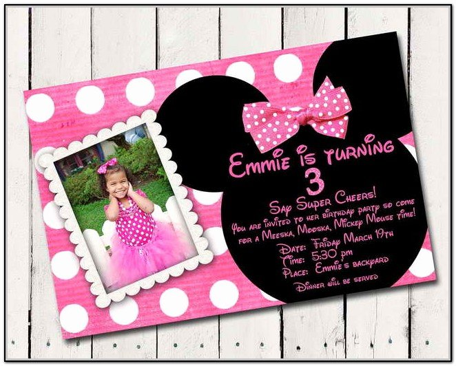 Custom Minnie Mouse Birthday Invitations Fresh Minnie Mouse Birthday Invitations Personalized