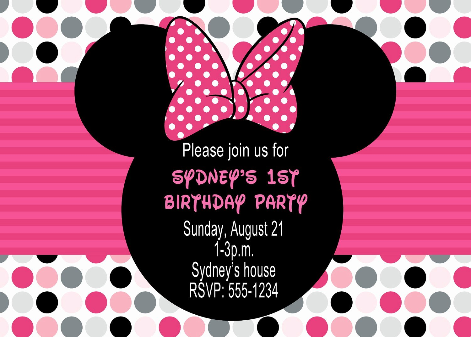 Custom Minnie Mouse Birthday Invitations Inspirational Custom Minnie Mouse Birthday Invitations