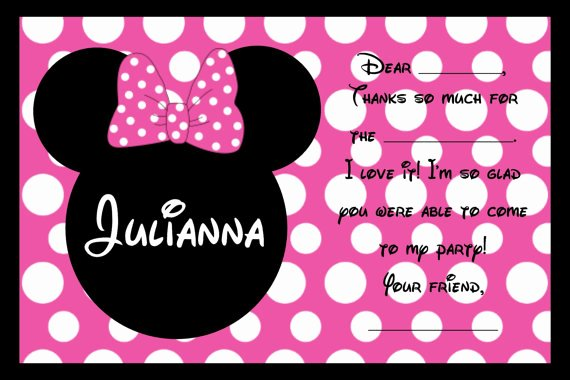 Custom Minnie Mouse Birthday Invitations Luxury Custom Minnie Mouse Birthday Party Invitations Personalized Birthday Invitations