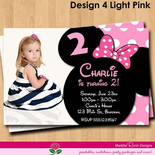 Custom Minnie Mouse Birthday Invitations New Minnie Mouse Birthday Invitations Personalized