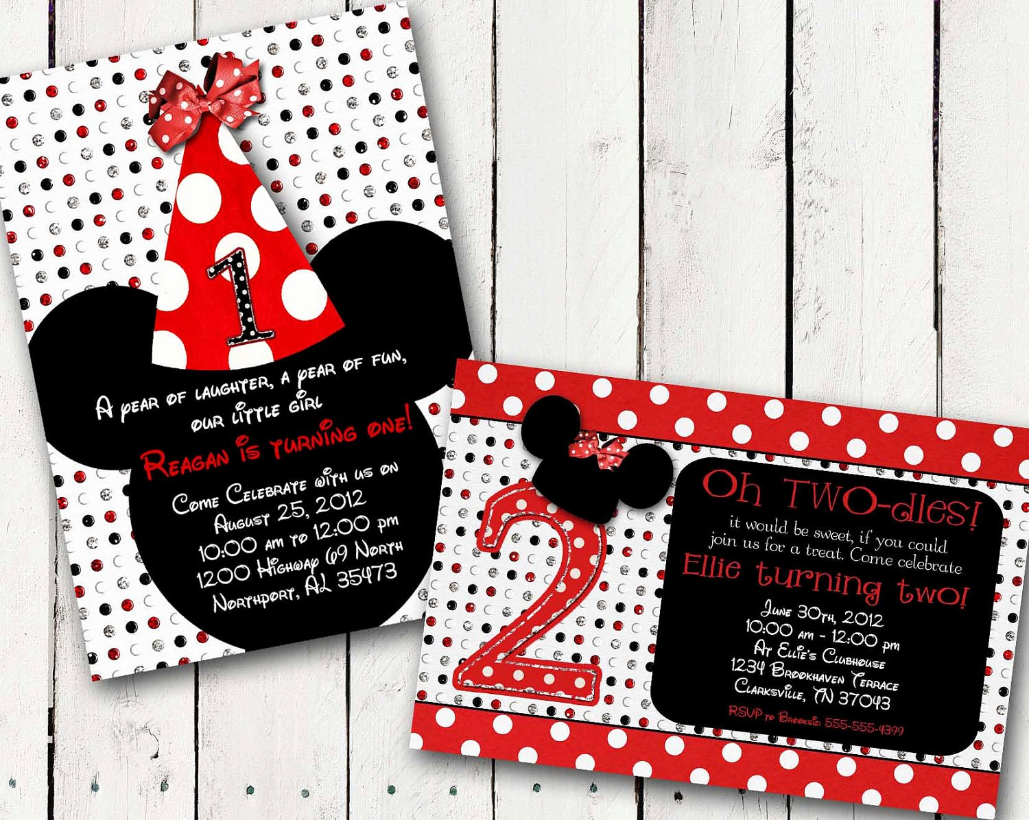 Custom Minnie Mouse Birthday Invitations Unique Red Minnie Mouse Custom Birthday Printable Disney Invitations