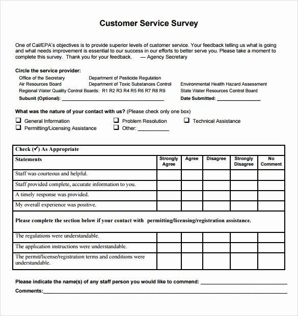 Customer Satisfaction Questionnaire Pdf Awesome Customer Satisfaction Questionnaire