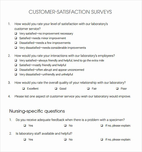 Customer Satisfaction Questionnaire Pdf Luxury Free 14 Sample Customer Satisfaction Survey Templates In Google Docs Ms Word Pages