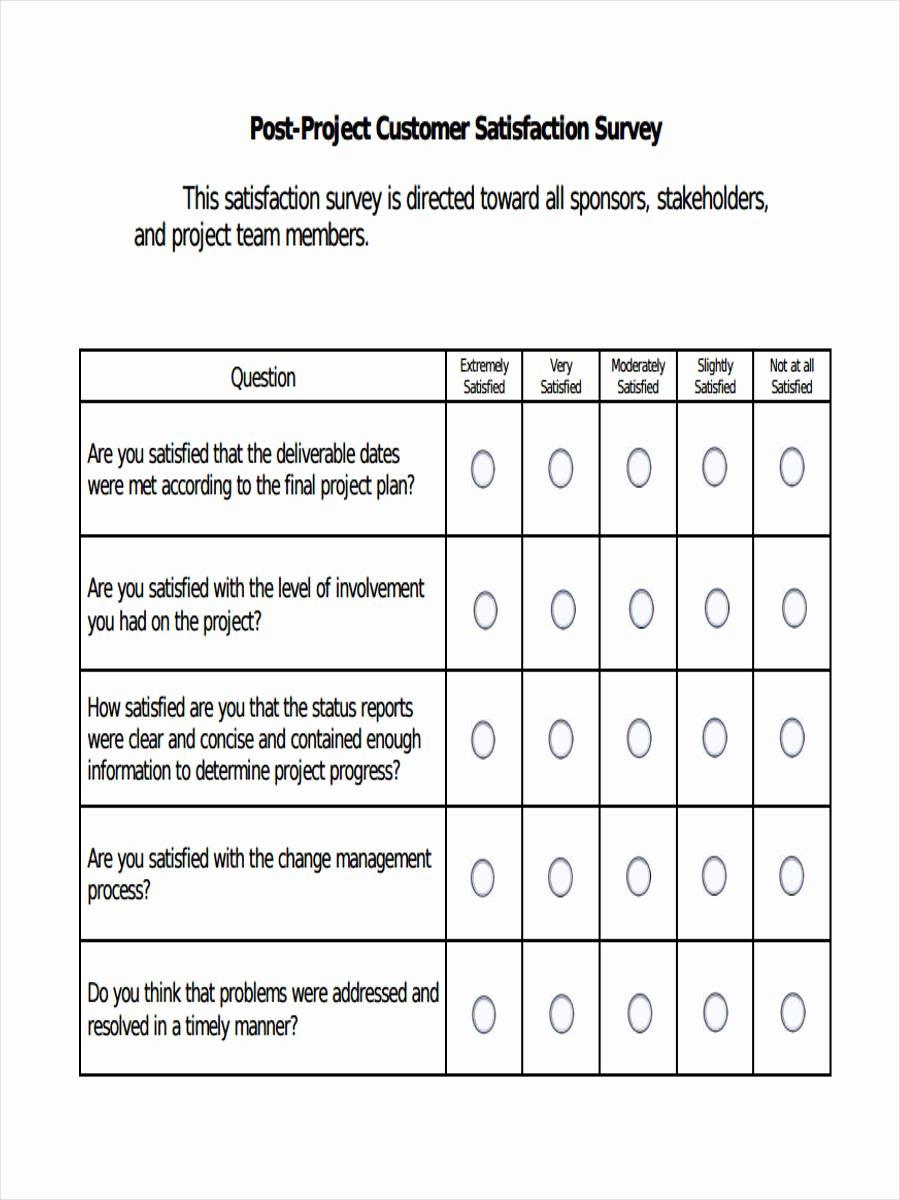 Customer Satisfaction Questionnaire Pdf Unique Free 38 Questionnaire forms