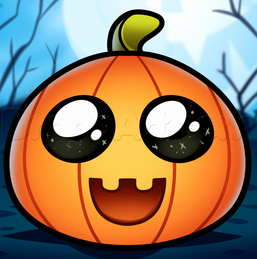 Cute Pictures to Draw Awesome How to Draw A Cute Pumpkin Step by Step Halloween