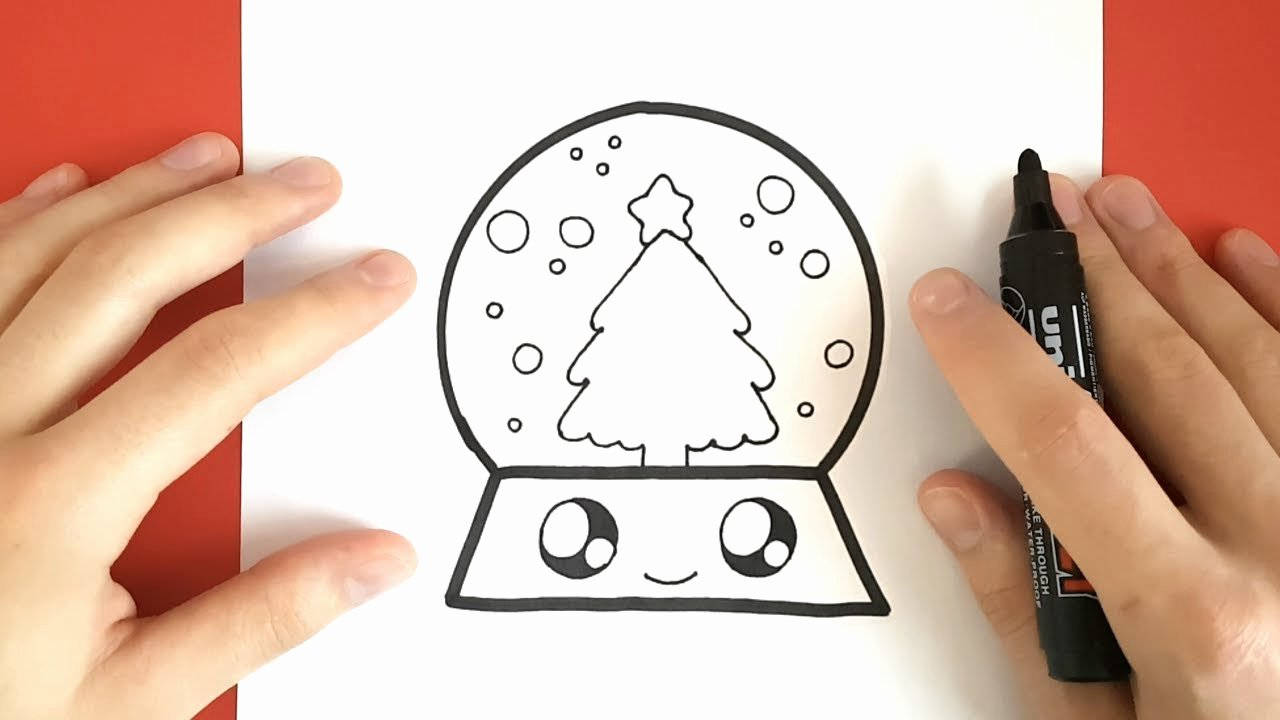 Cute Pictures to Draw Fresh How to Draw A Snow Globe Cute and Easy