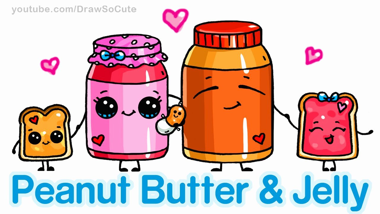 Cute Pictures to Draw Fresh How to Draw Cute Cartoon Food Peanut butter and Jelly