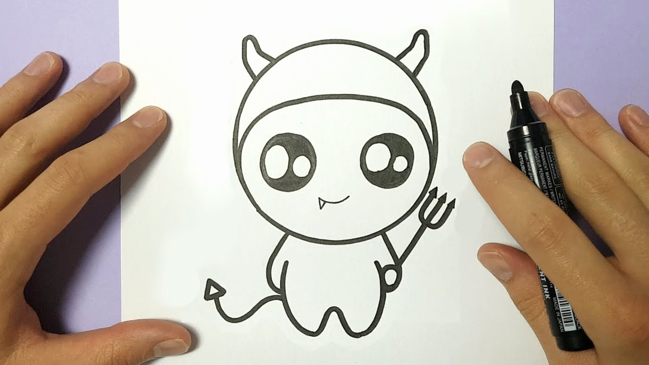 Cute Pictures to Draw Fresh How to Draw Cute Halloween Devil