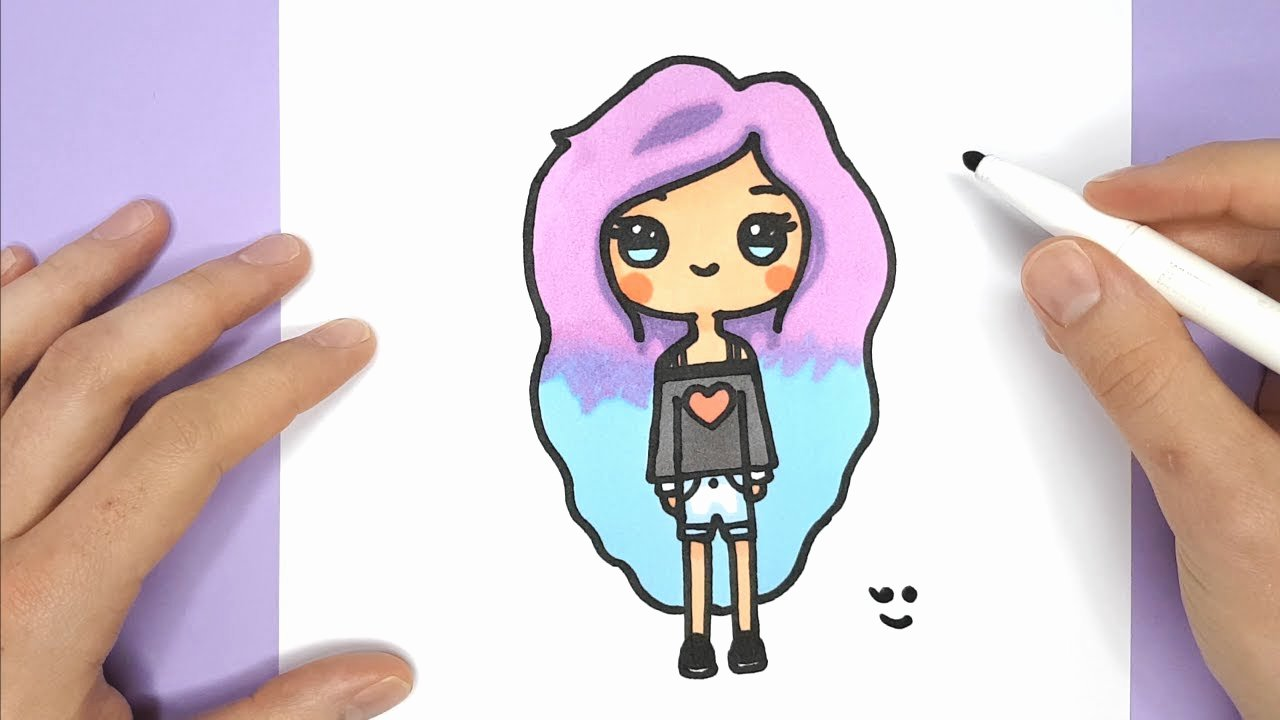 Cute Pictures to Draw Inspirational How to Draw A Cute Tumblr Girl Easy Drawing Tutorial