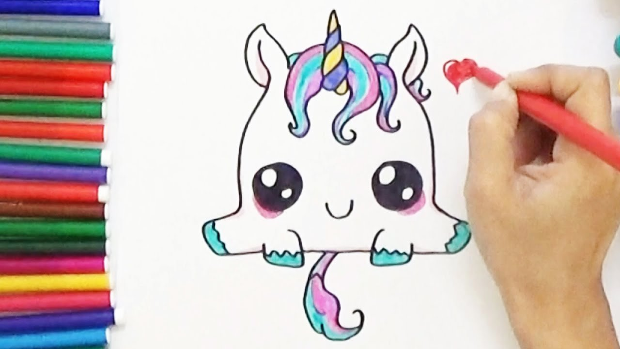 Cute Pictures to Draw Inspirational How to Draw A Cute Unicorn Cute and Easy