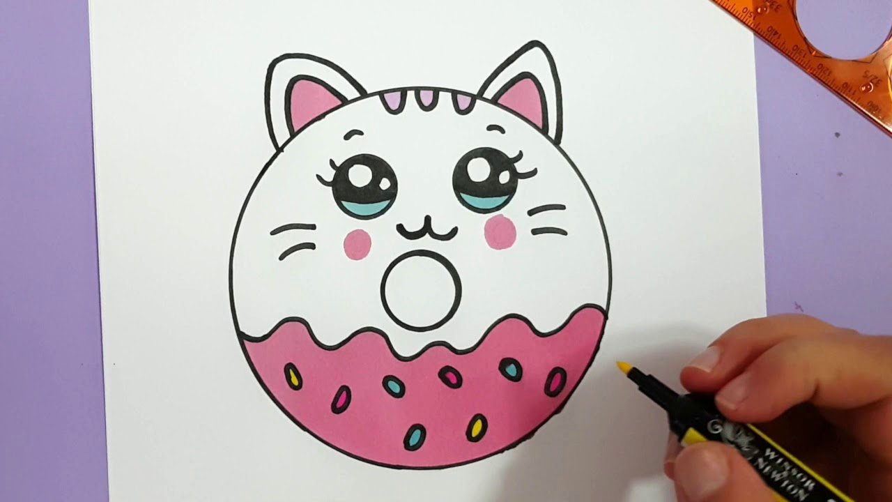 Cute Pictures to Draw Luxury How to Draw A Cute Kitten Donut Super Easy