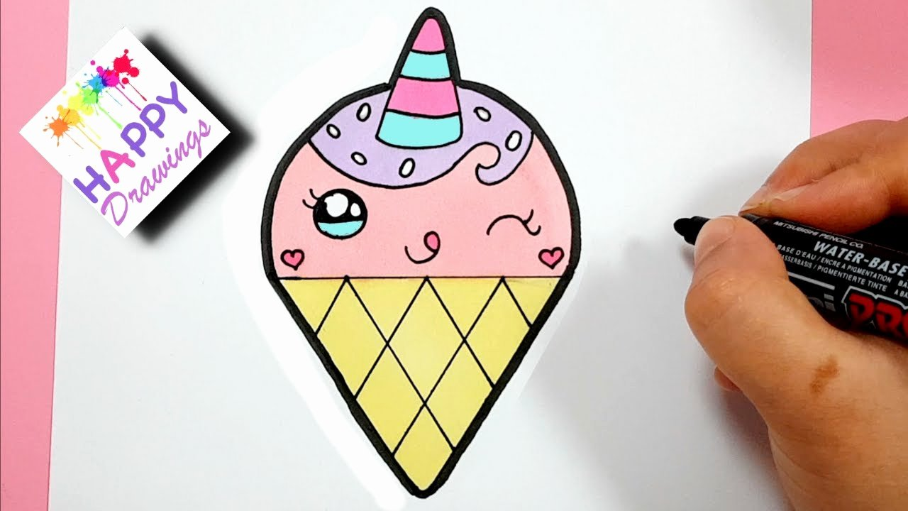 Cute Pictures to Draw Unique How to Draw A Cute Lovely Unicorn Ice Cream Super Easy