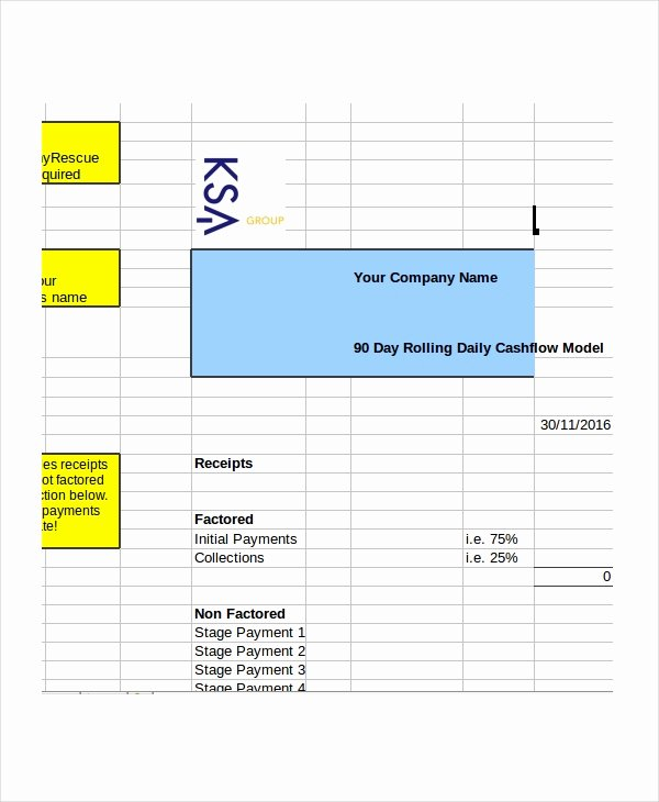 Daily Cash Flow Template Excel Best Of Cash Flow Excel Template 13 Free Excels Download