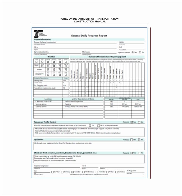 Daily Progress Report Template Elegant Daily Report Template Daily Report format