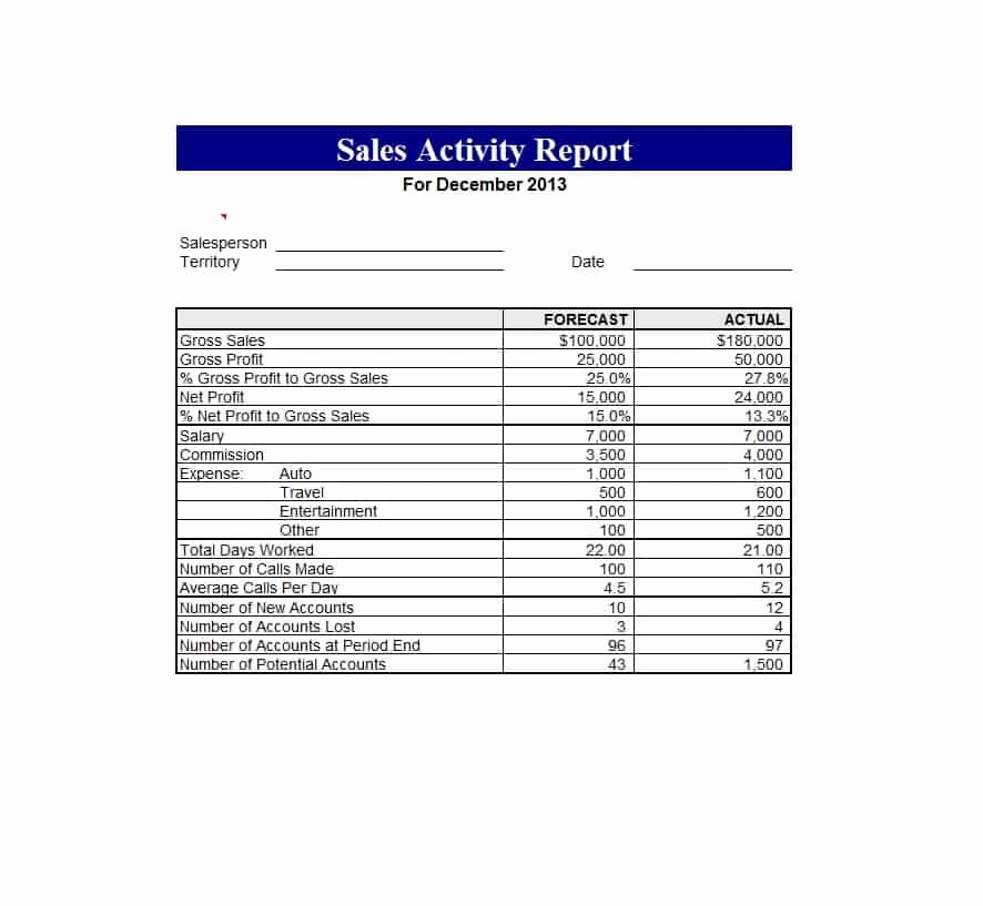 Daily Sales Report Template Awesome 45 Sales Report Templates [daily Weekly Monthly Salesman Reports]