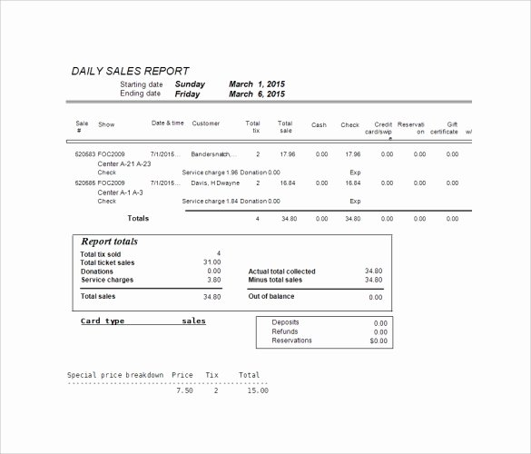 Daily Sales Report Template Lovely Sample Sales Log Template 5 Free Documents In Pdf Excel