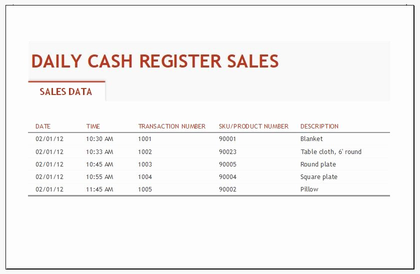 Daily Sales Report Template Luxury Daily Sales Log Template for Ms Excel