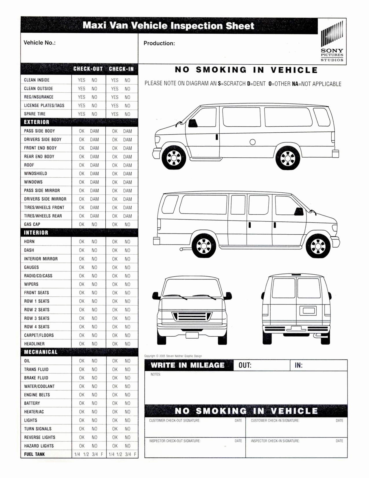 Daily Vehicle Inspection Checklist Template Elegant Vehicle Inspection Sheet Template