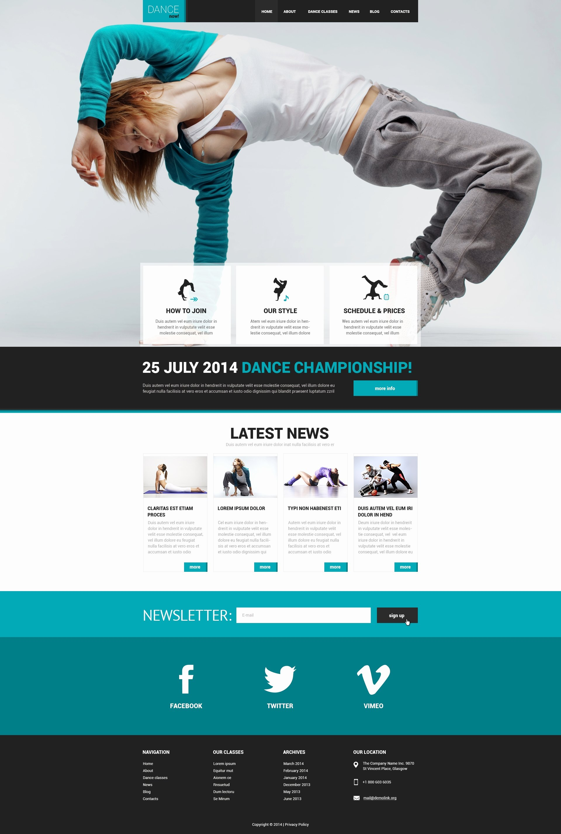 Dance Lesson Plan Template Fresh Dance Studio Responsive Website Template