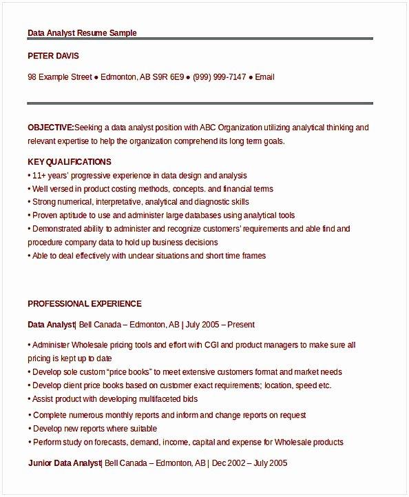 Data Analyst Resume Entry Level Fresh Data Analyst Resume Entry Level