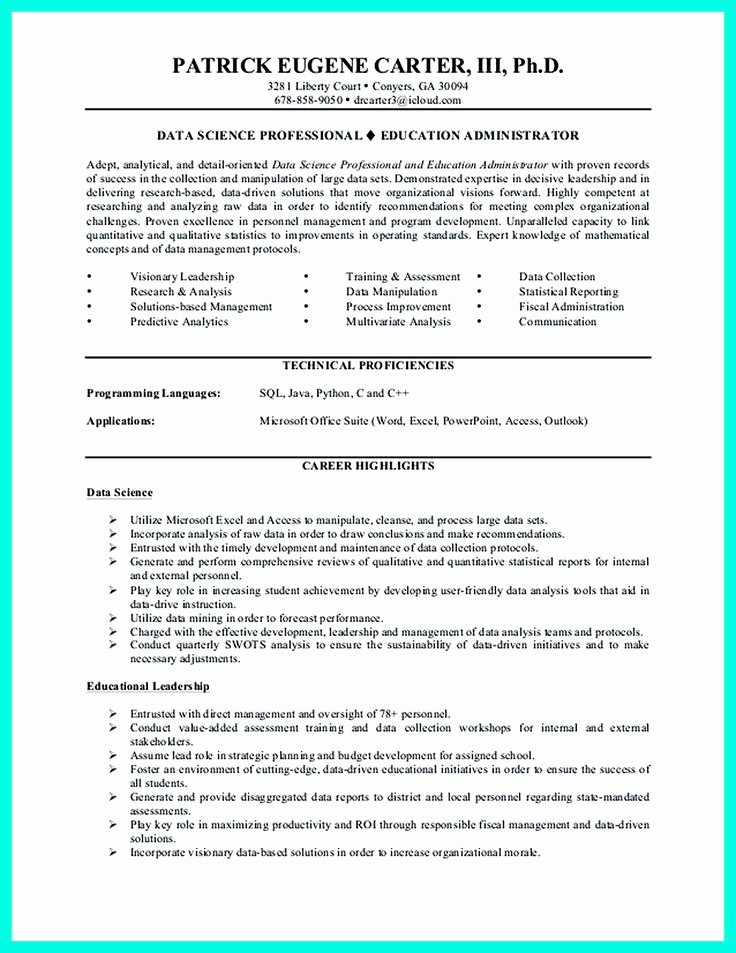 Data Analyst Resume Entry Level Fresh Data Scientist Resume Include Everything About Your Education Skill Qualification and Your