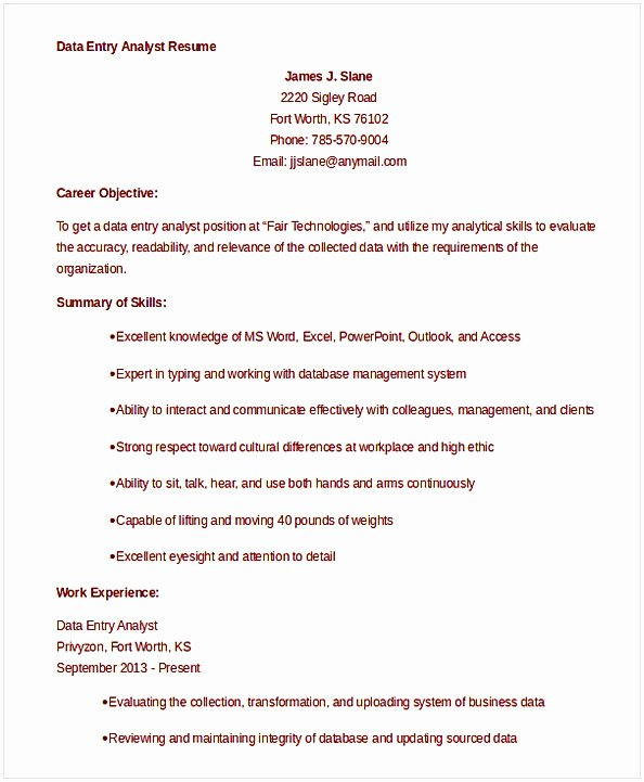 Data Analyst Resume Entry Level Luxury Data Analyst Resume Entry Level