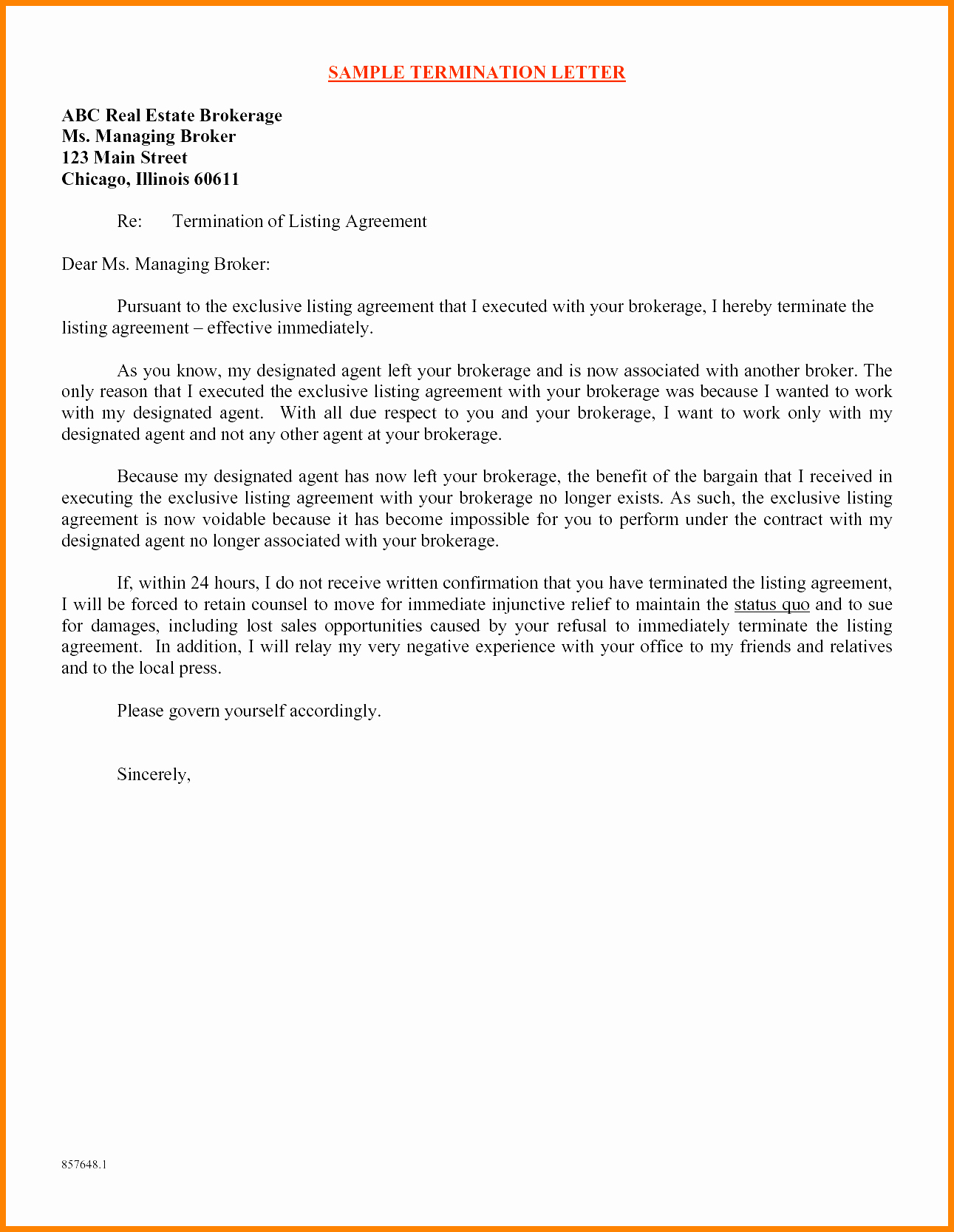 Daycare Termination Letter to Parent Best Of 7 Daycare Termination Letter