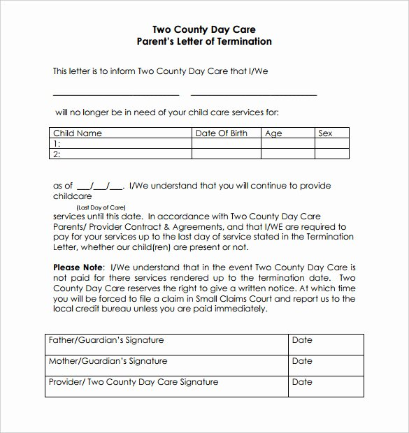 Daycare Termination Letter to Parent Fresh Positive Note Home to Parents Template Pdf Tutore