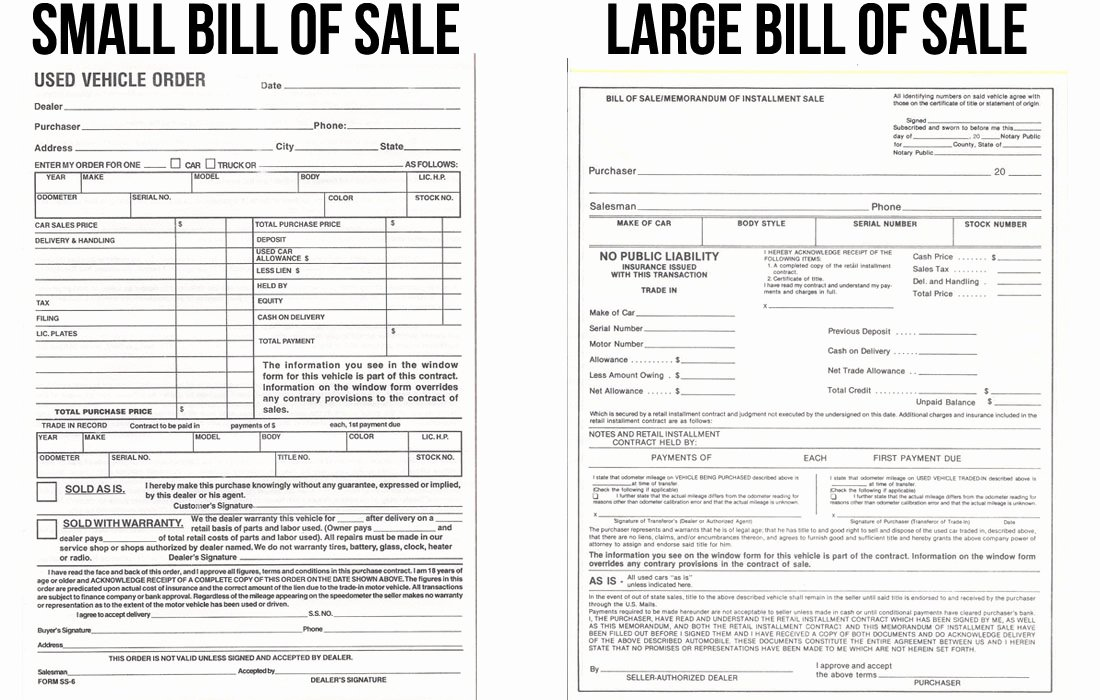 Dealer Bill Of Sale Fresh Bill Of Sale