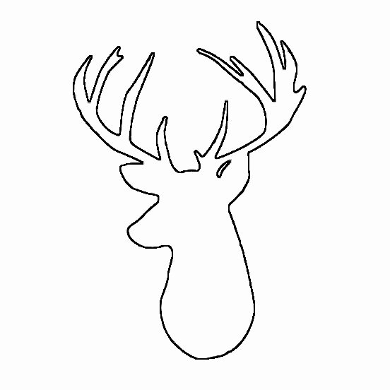 Deer Antler Printable Template Awesome Cd C8ddcbc4f70a1f3a C1c4 Reindeer Silhouette Deer
