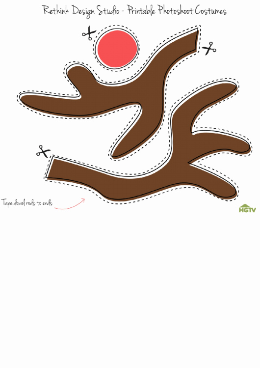 Deer Antler Printable Template Beautiful 20 Reindeer Templates Free to In Pdf