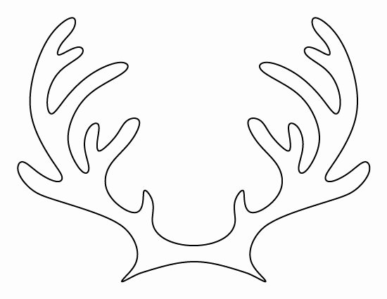 Deer Antler Printable Template Beautiful Printable Reindeer Antlers Pattern Use the Pattern for
