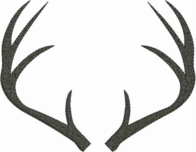 Deer Antler Printable Template Beautiful Sillhoutte On Pinterest
