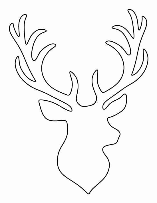 Deer Antler Printable Template Best Of Stag Head Pattern Use the Printable Outline for Crafts
