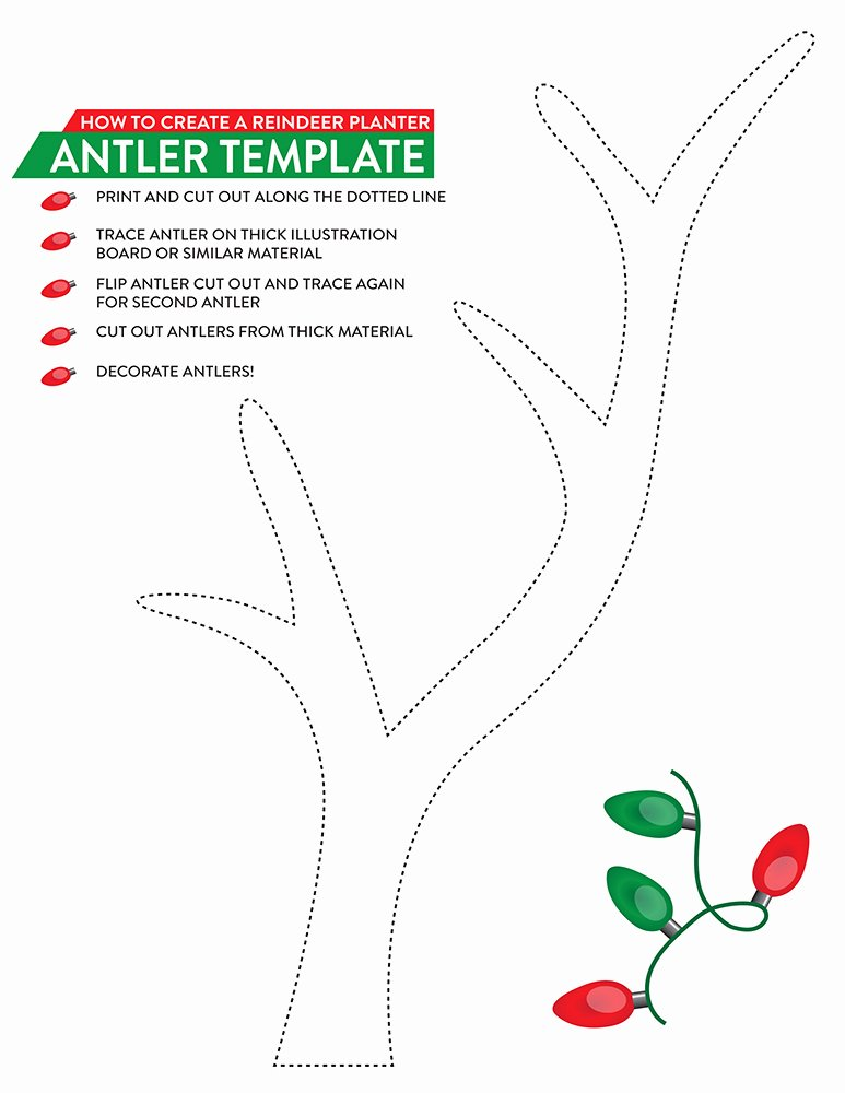 Deer Antler Printable Template Elegant A Holiday Gift for the Gardener