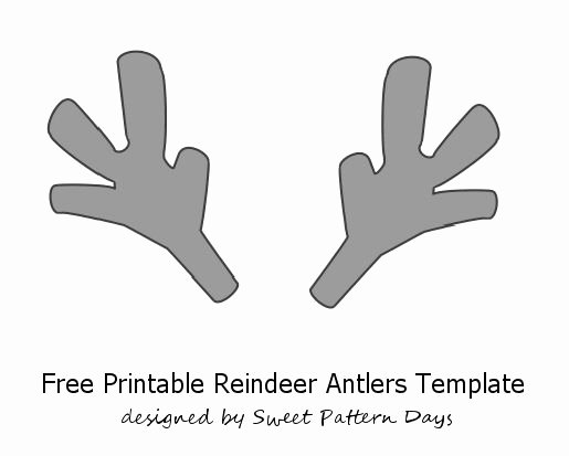 Deer Antler Printable Template Unique Printable Reindeer Antlers Template