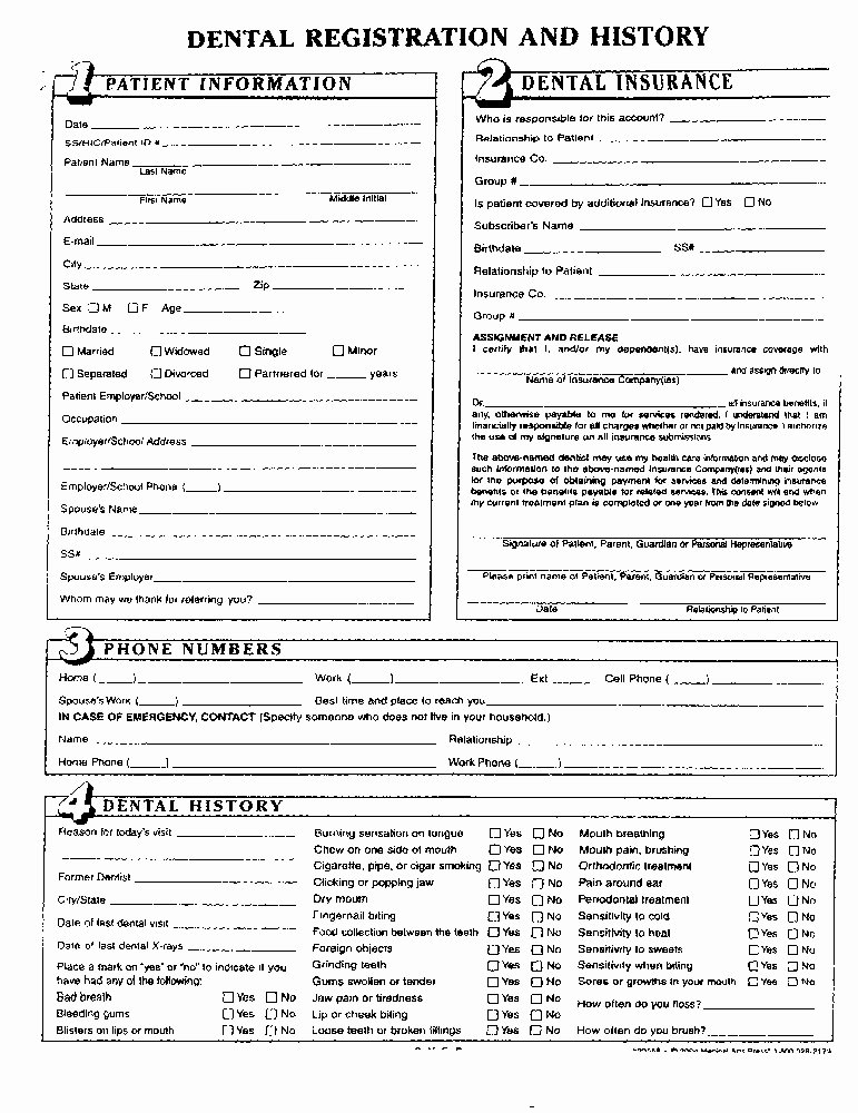 Dental Medical History form Template Luxury 5 Best S Of Dental Medical History form Template Dental Medical History form Printable