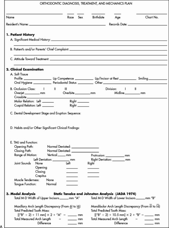 Dental Treatment Plan form Best Of 27 Managing the Developing Occlusion