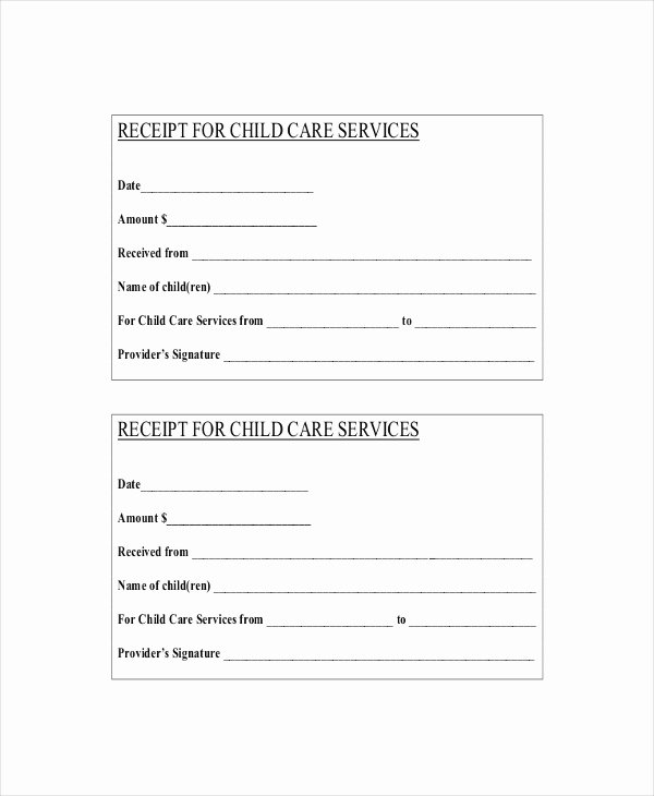 Dependent Care Receipt Template Fresh 28 Of Template Receipt for Daycare Parents
