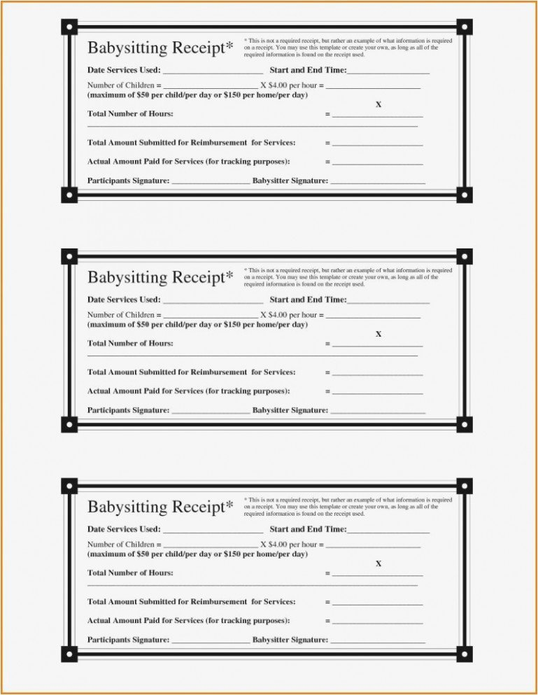 Dependent Care Receipt Template Inspirational the 15 Secrets You Will