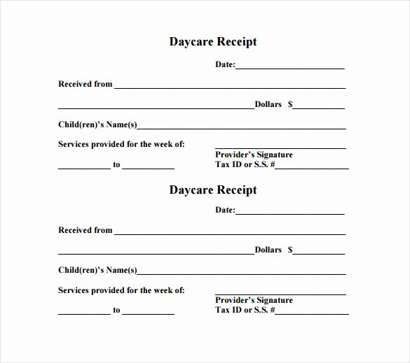 Dependent Care Receipt Template Lovely 21 Daycare Receipt Templates Pdf Doc