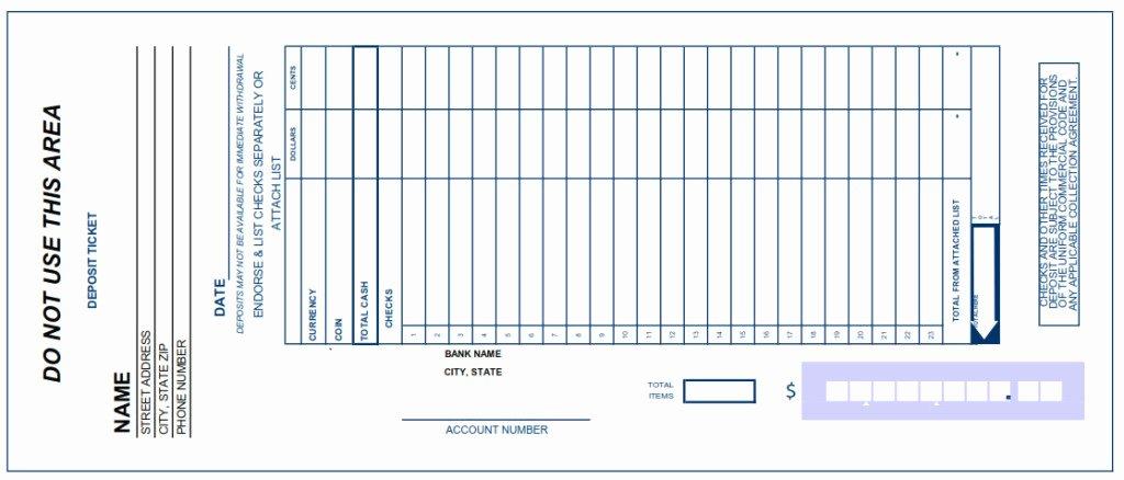 Deposit Slip Template Excel Beautiful Deposit Slip Template Excel Free Excel Spreadsheet Templates